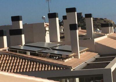 Solar térmica para vivienda multifamiliar en Villajoyosa