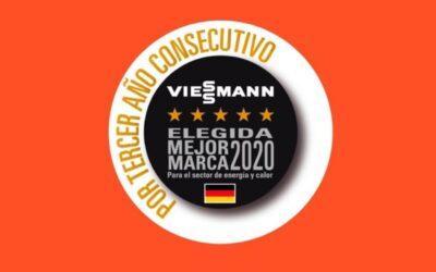 Viessmann elegida mejor marca del año por los consumidores alemanes en el sector de energía y calor por tercer año consecutivo.